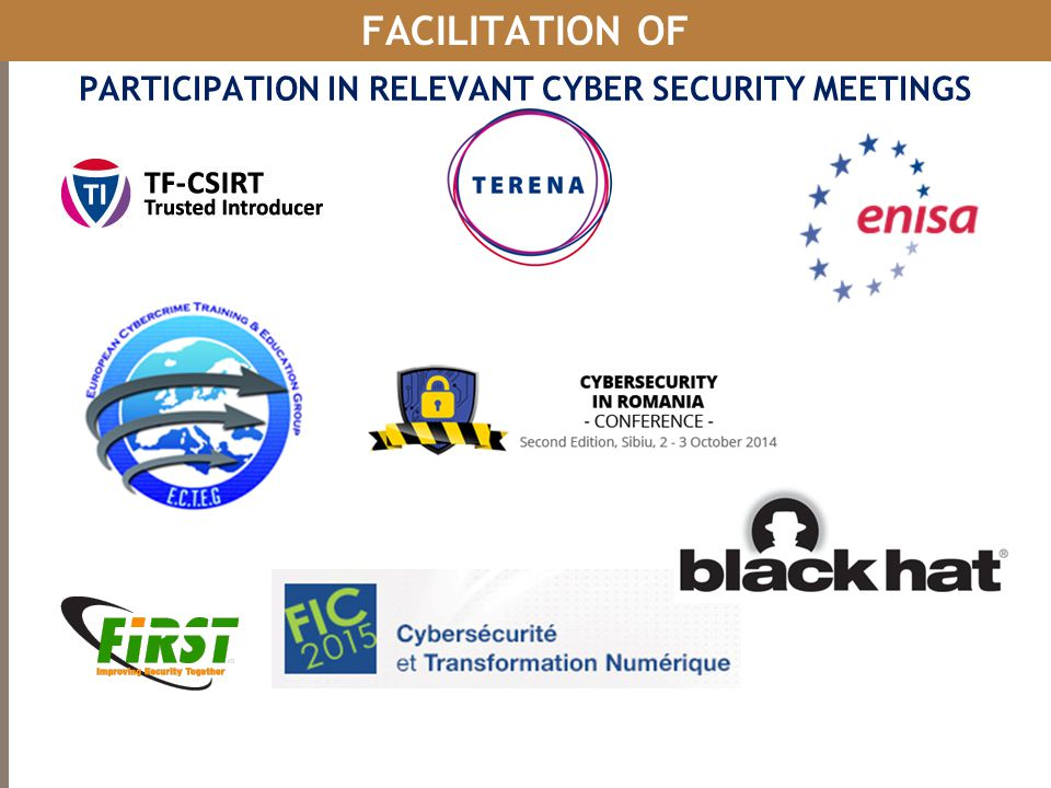 PARTICIPATION IN RELEVANT CYBER SECURITY MEETINGS