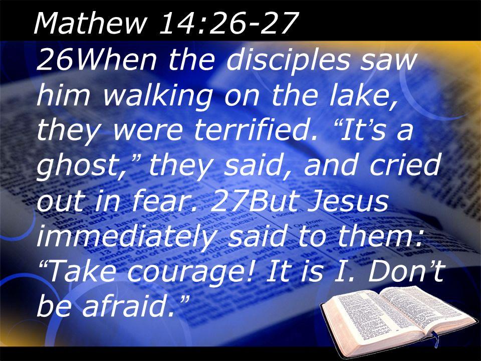 Mathew 14:26-27