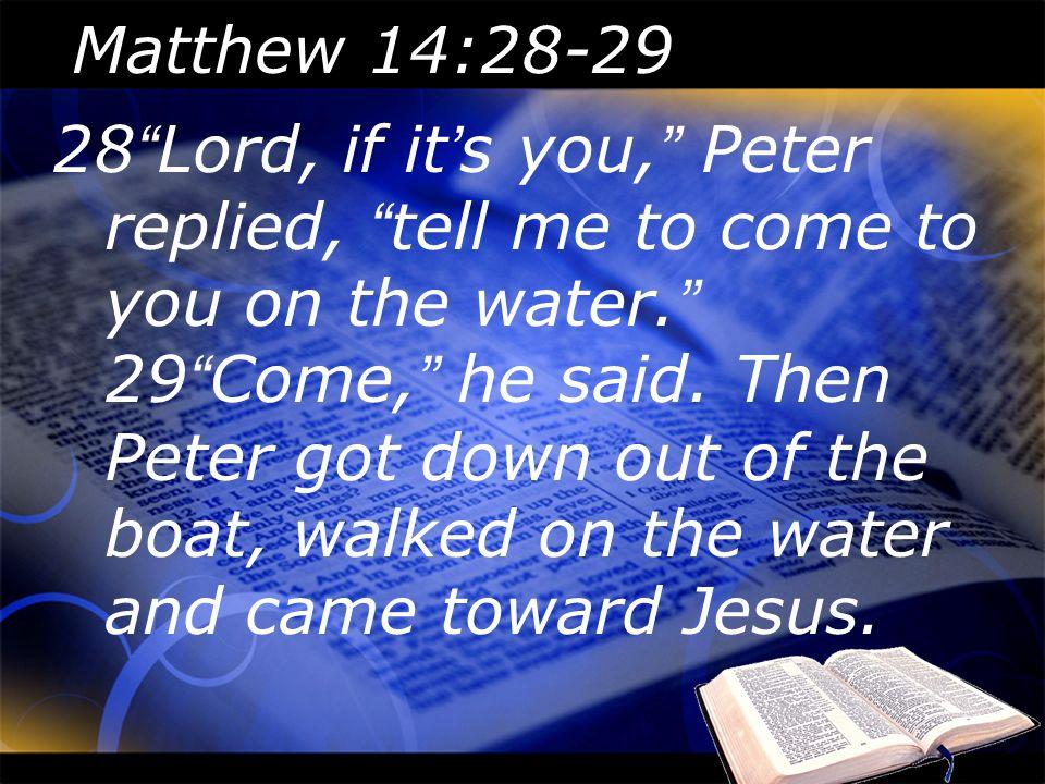 Matthew 14:28-29