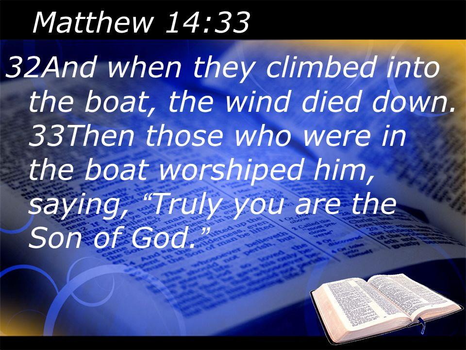 Matthew 14:33