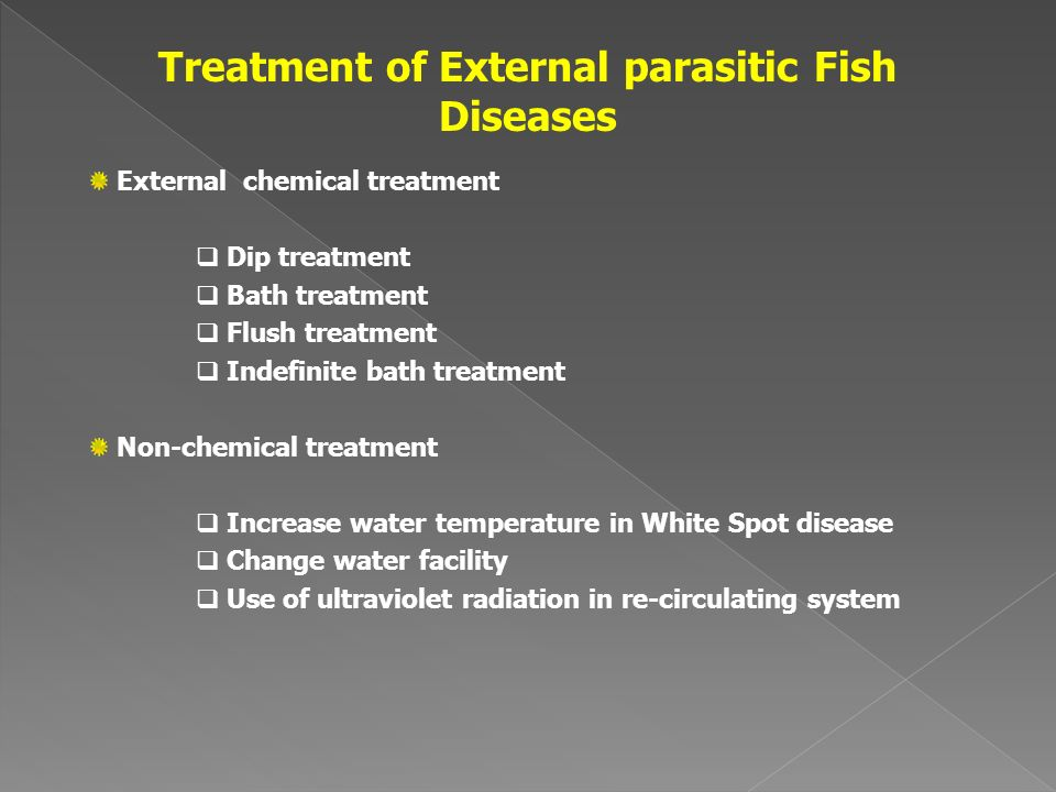 Treatment of External parasitic Fish Diseases