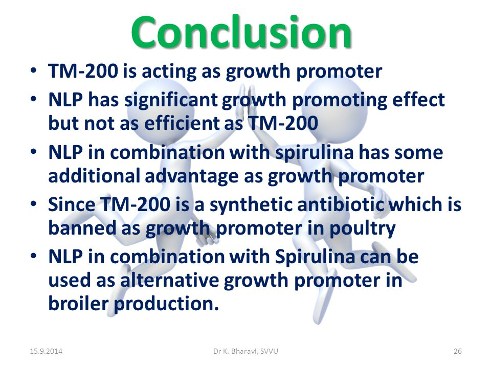 Conclusion TM-200 is acting as growth promoter