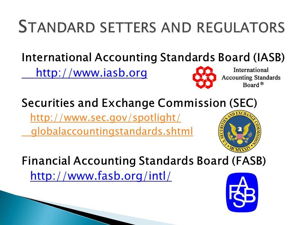 Standard setters and regulators