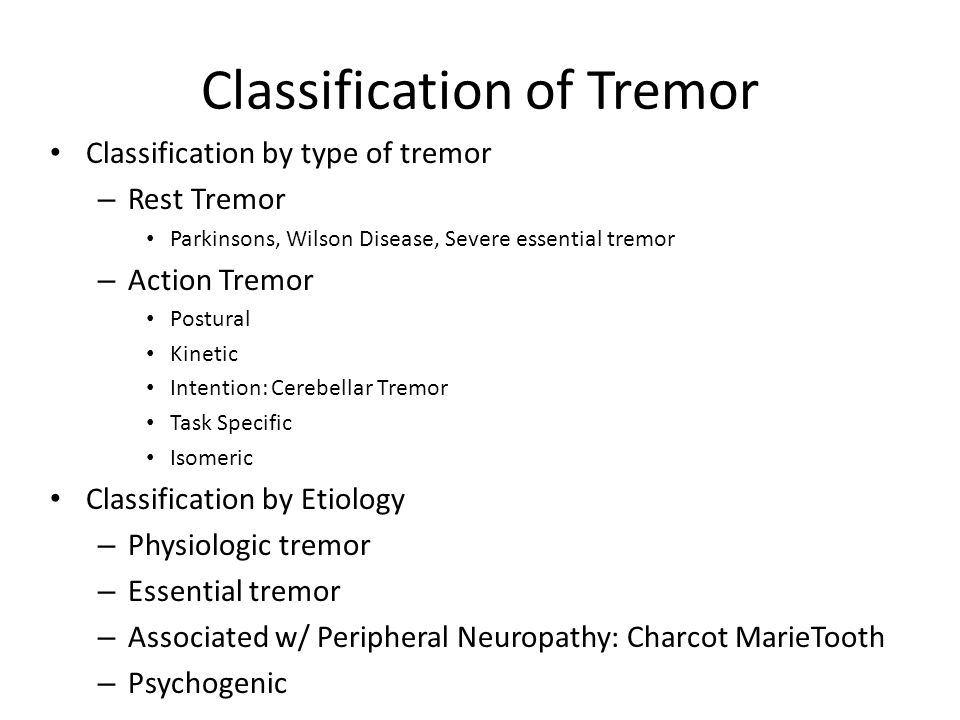 Classification of Tremor