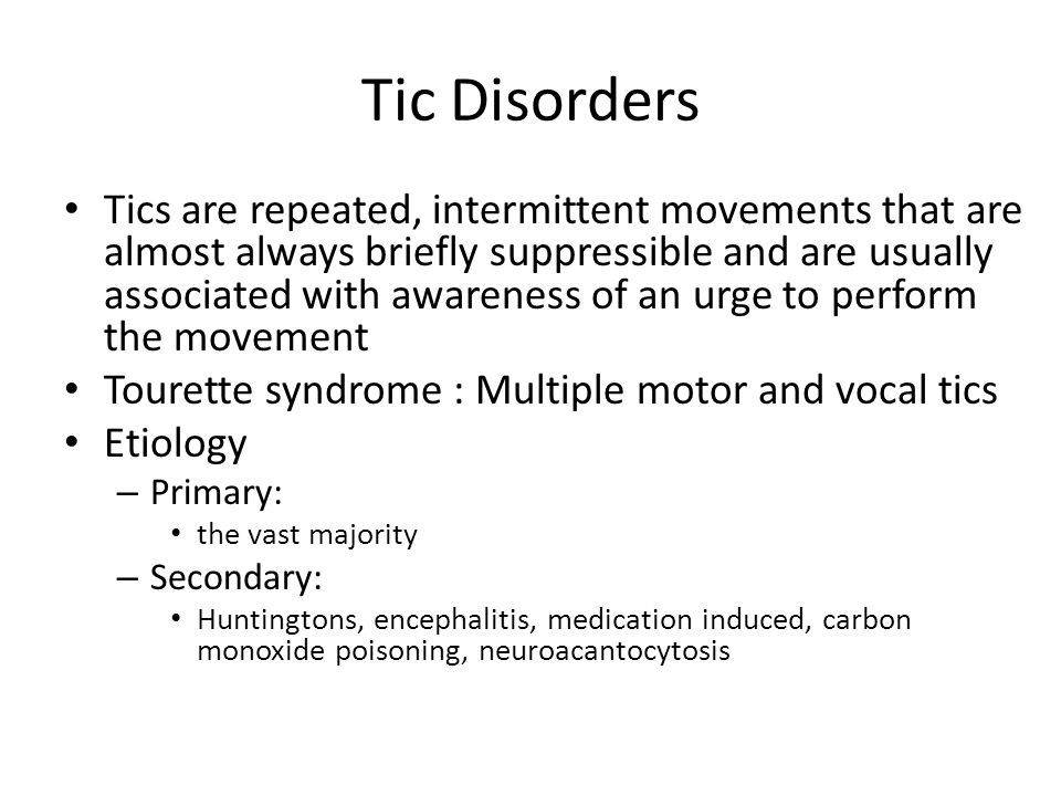 Movement Disorders In Children Ppt Video Online Download