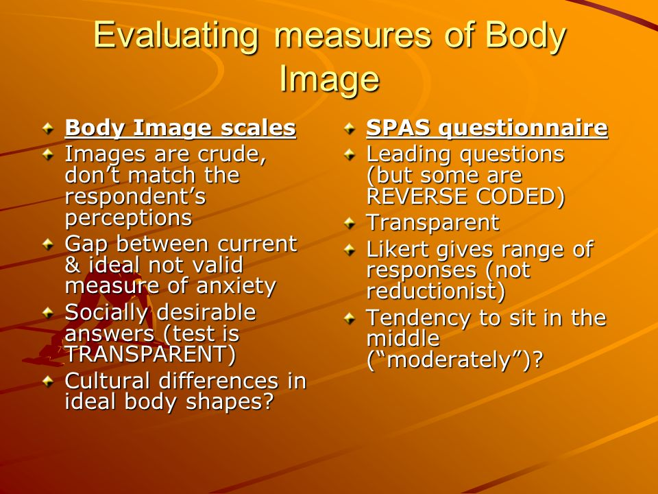 Evaluating measures of Body Image