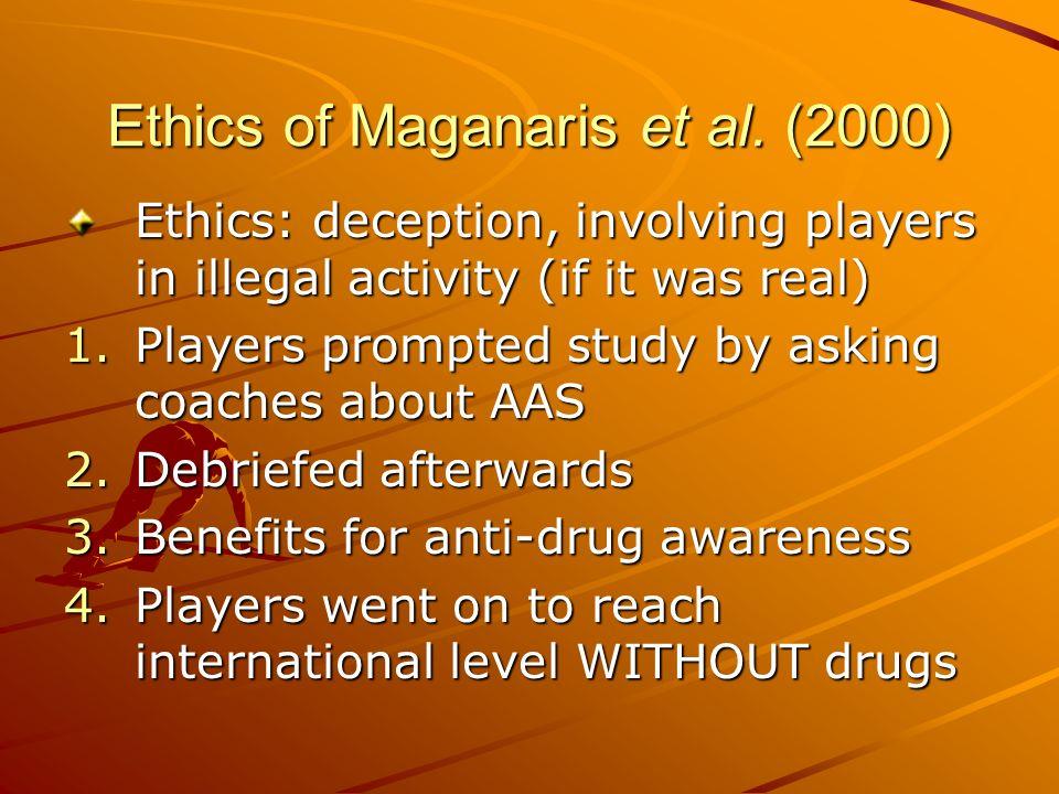 Ethics of Maganaris et al. (2000)