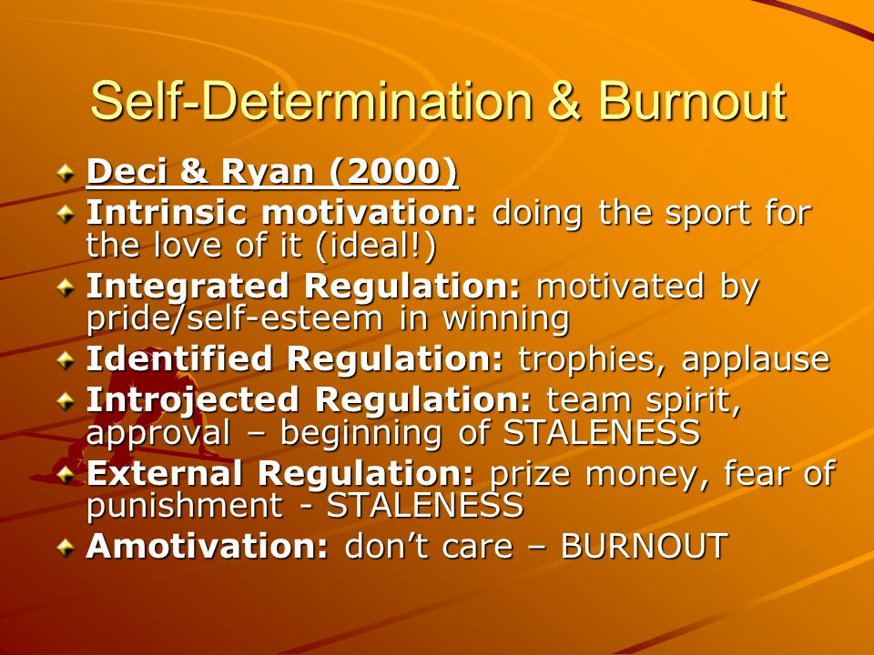 Self-Determination & Burnout