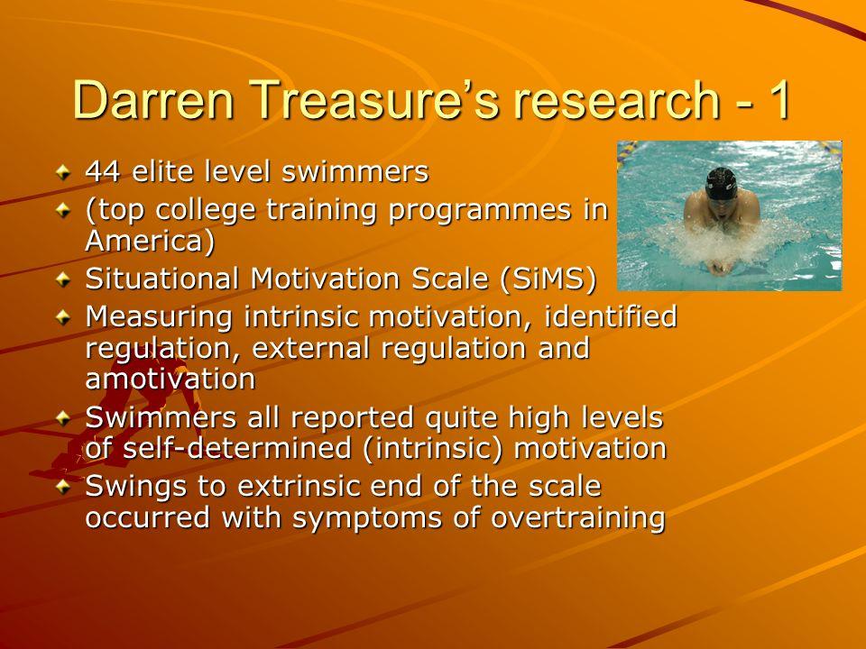 Darren Treasure's research - 1