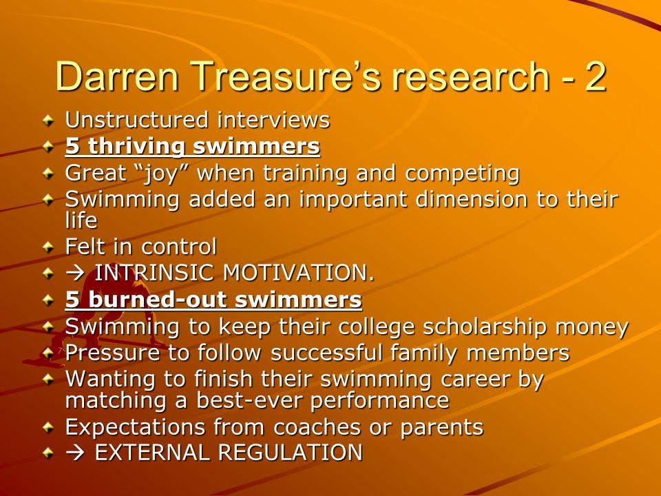 Darren Treasure's research - 2