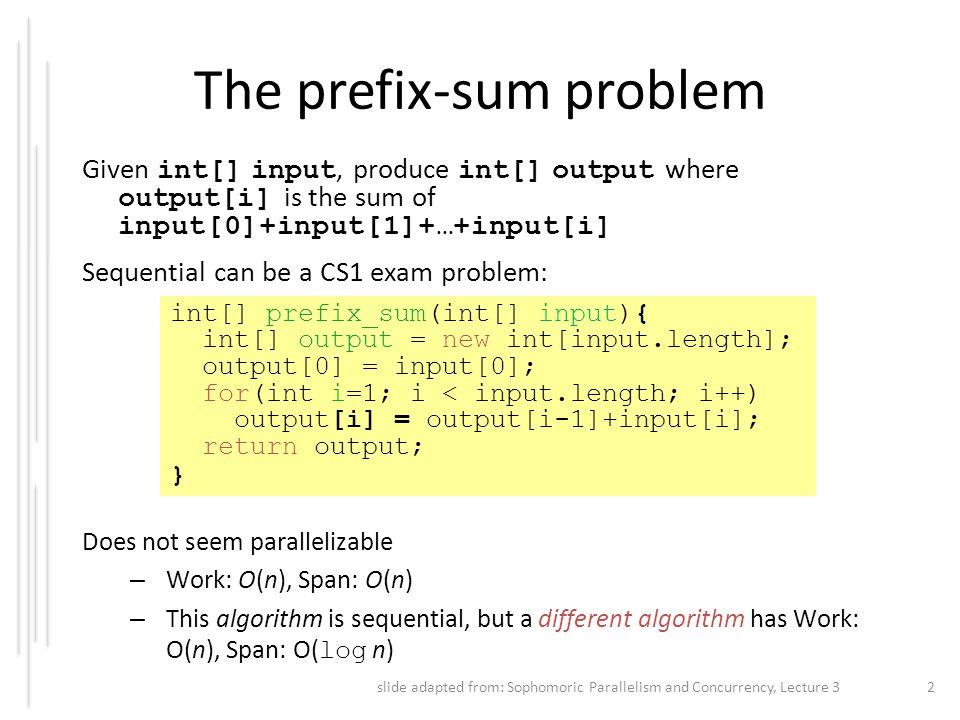 The prefix-sum problem