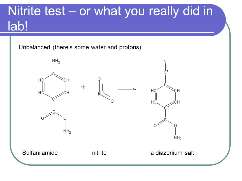 Nitrite test – or what you really did in lab!