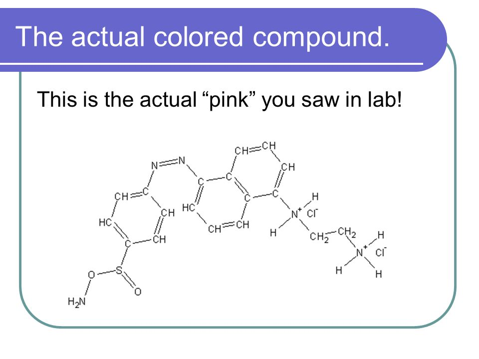 The actual colored compound.
