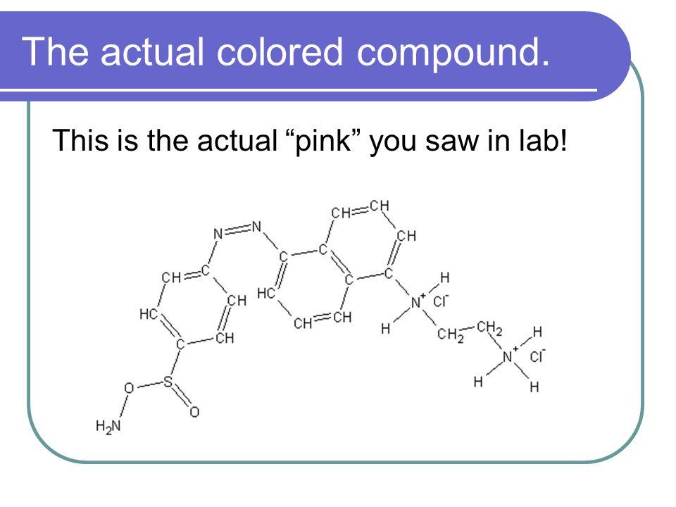 The actual colored compound.