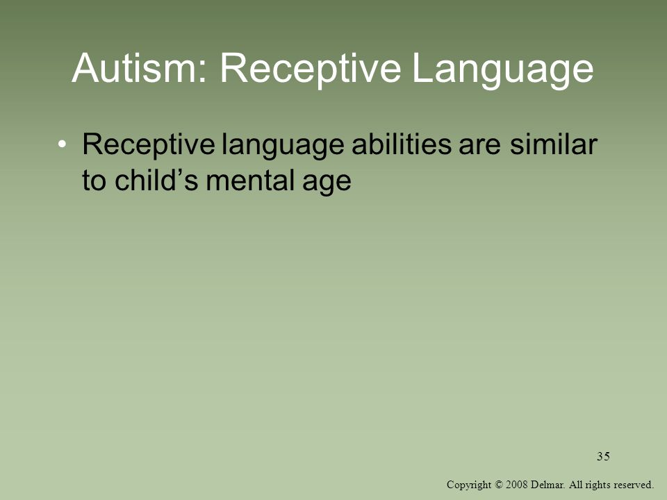Autism: Receptive Language
