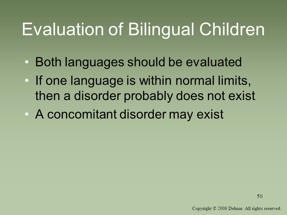 Evaluation of Bilingual Children
