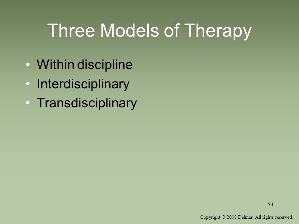 Three Models of Therapy