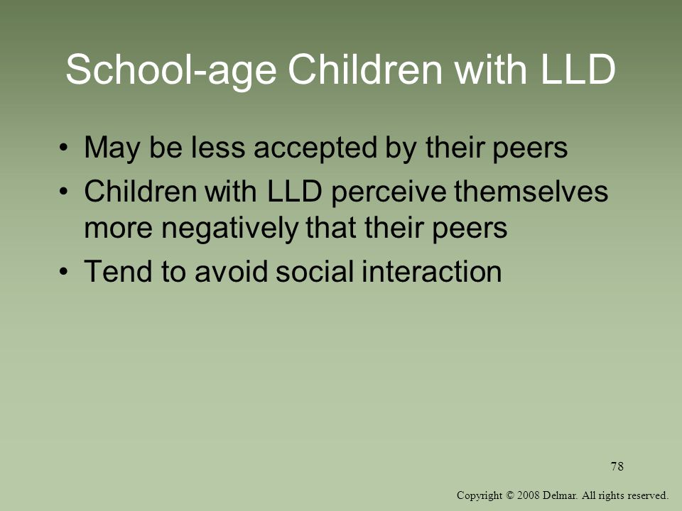 School-age Children with LLD