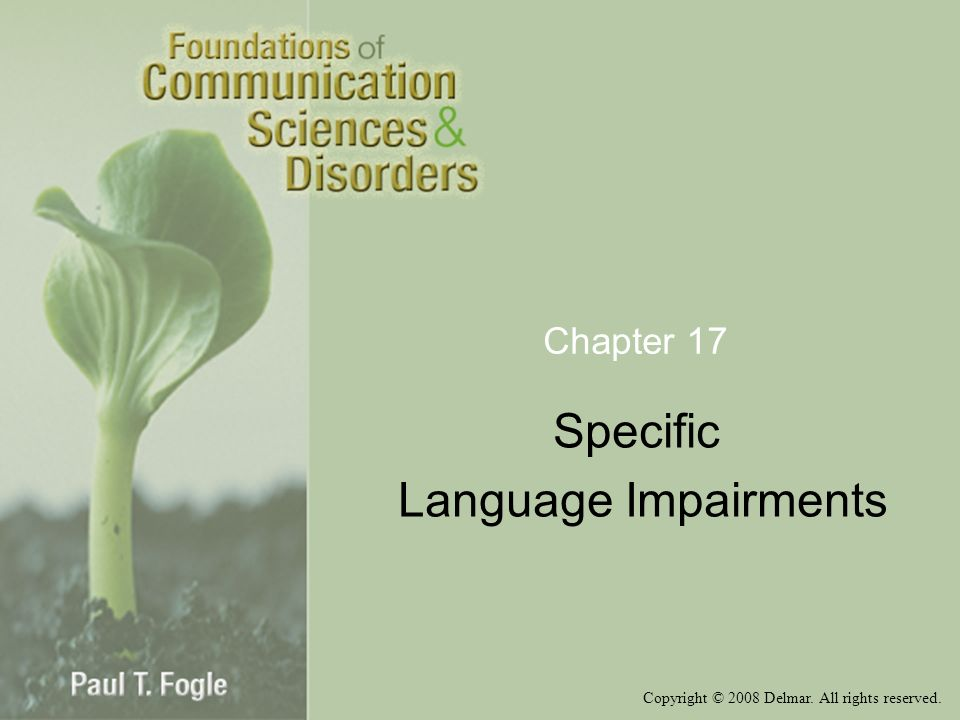 Specific Language Impairments