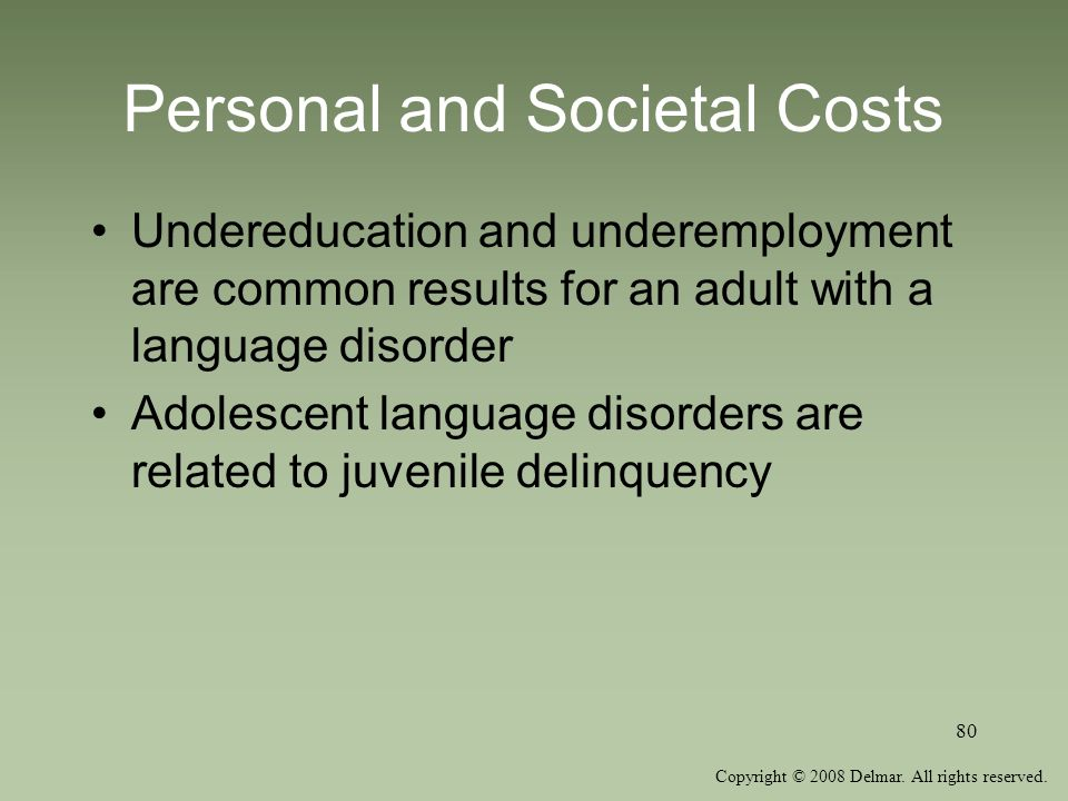 Personal and Societal Costs