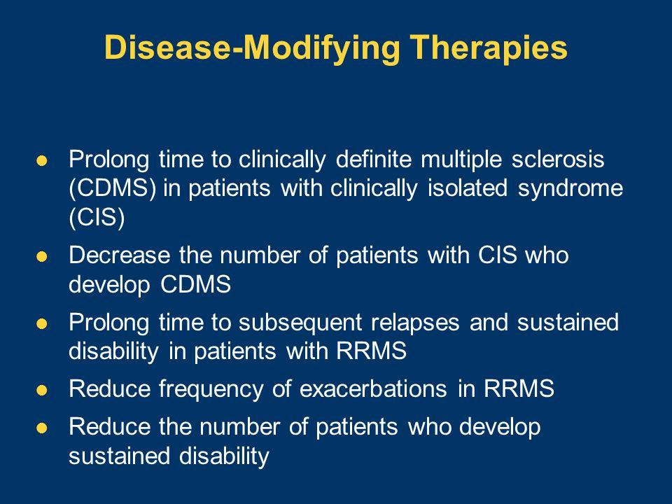 Disease-Modifying Therapies