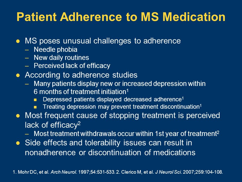 Patient Adherence to MS Medication
