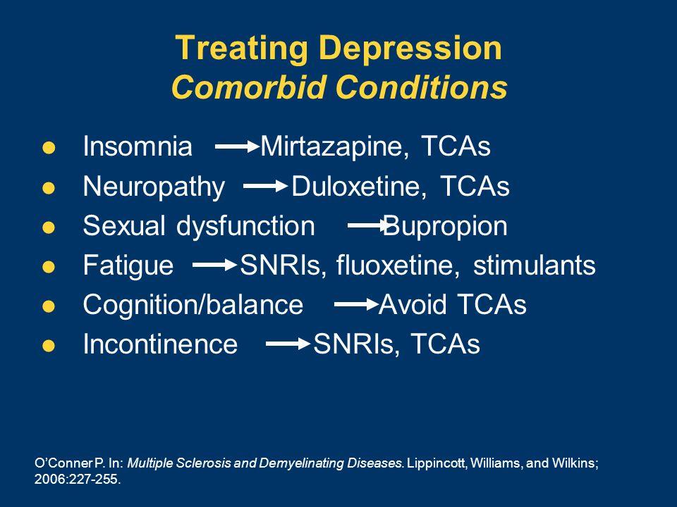 Treating Depression Comorbid Conditions