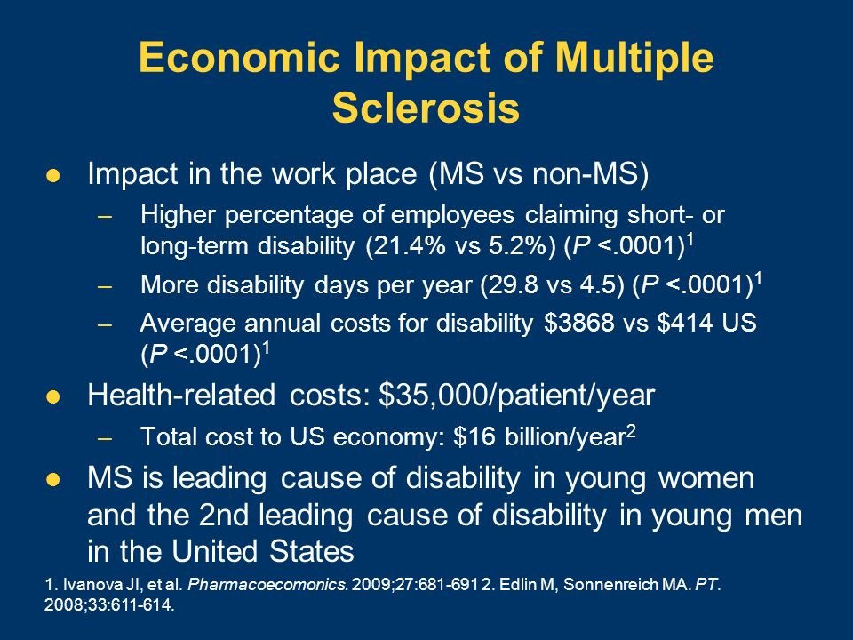 treatment and impact of multiple sclerosis The impact of living with multiple sclerosis (ms): quality of life and impact on  living with multiple sclerosis not only  associated with treatment of.