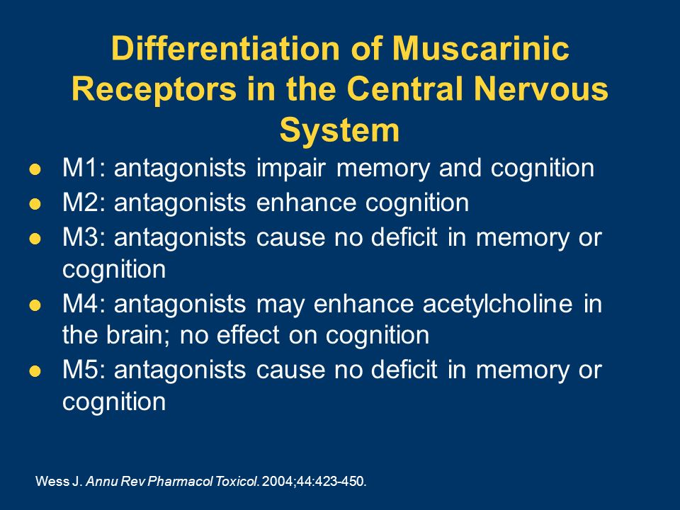 Differentiation of Muscarinic Receptors in the Central Nervous System
