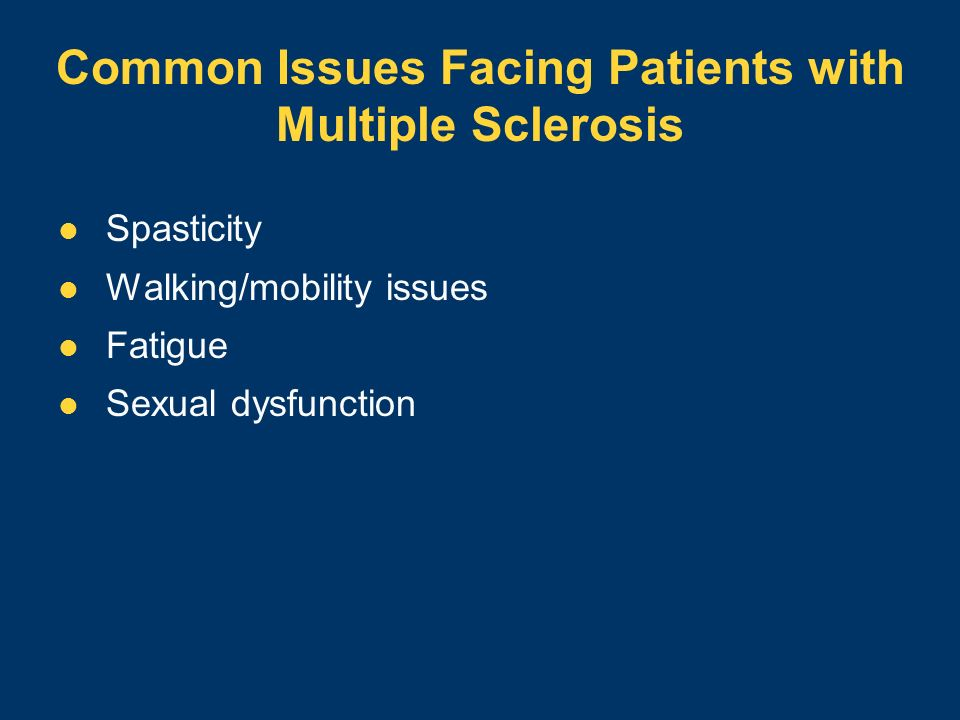 Common Issues Facing Patients with Multiple Sclerosis