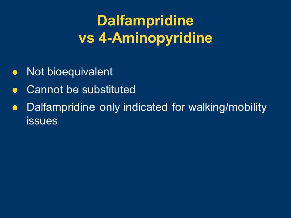 Dalfampridine vs 4-Aminopyridine