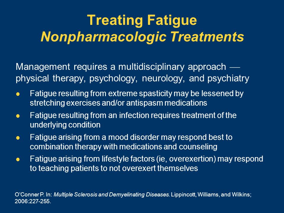Treating Fatigue Nonpharmacologic Treatments