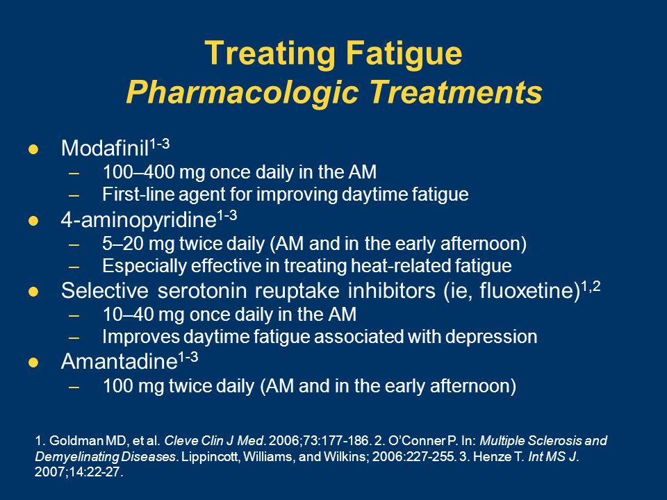 Treating Fatigue Pharmacologic Treatments