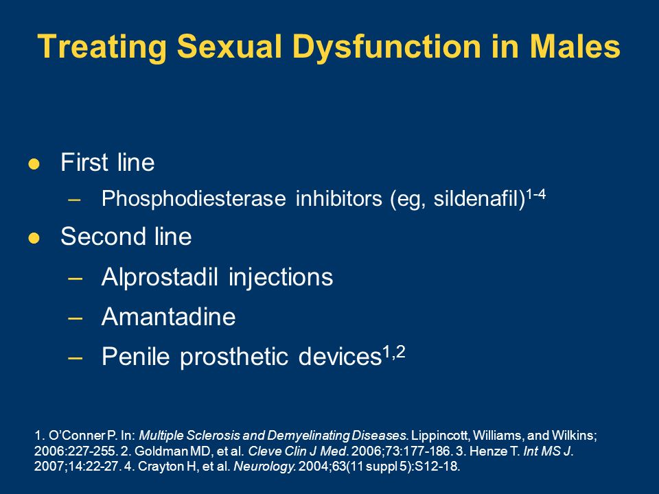 Treating Sexual Dysfunction in Males