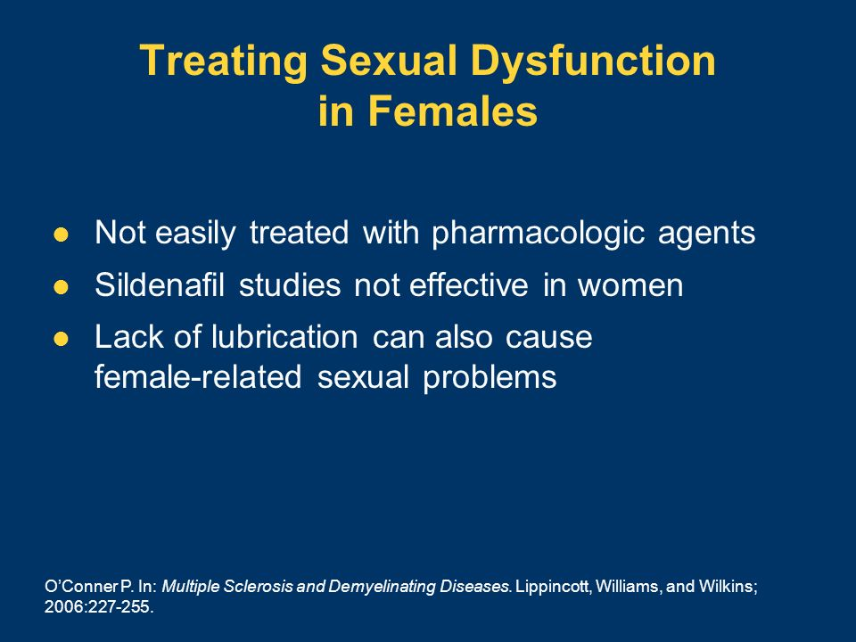 Treating Sexual Dysfunction in Females