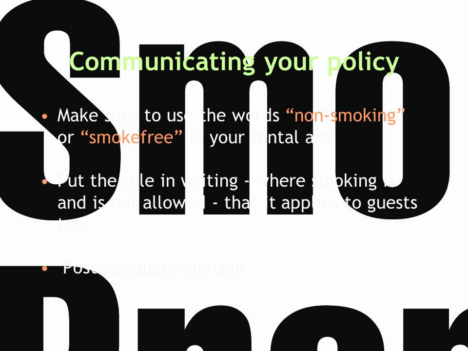 Communicating your policy