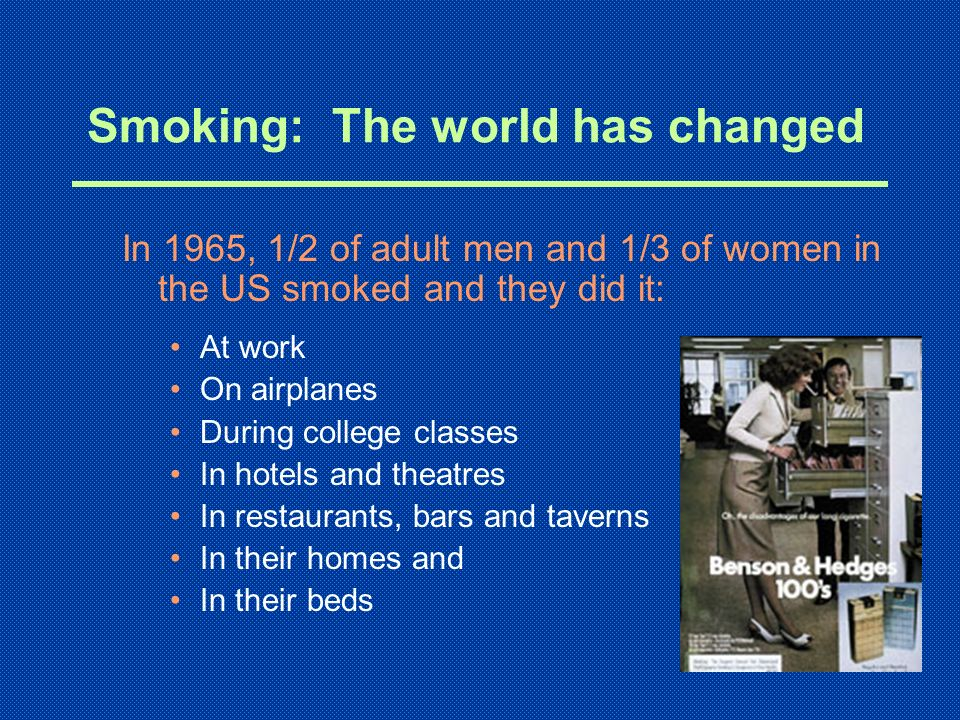 Smoking: The world has changed