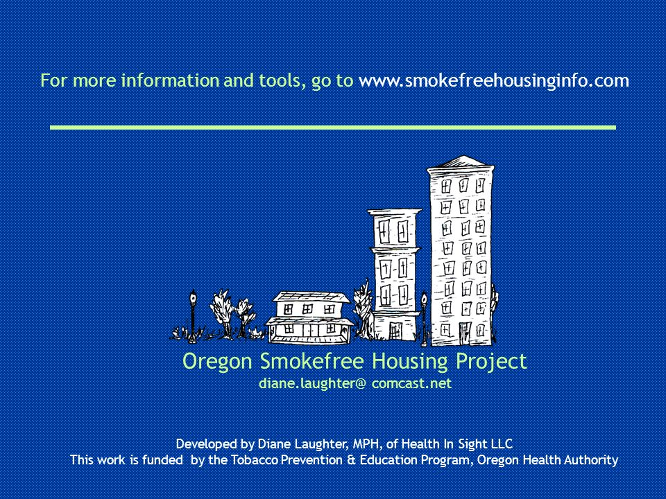 Oregon Smokefree Housing Project