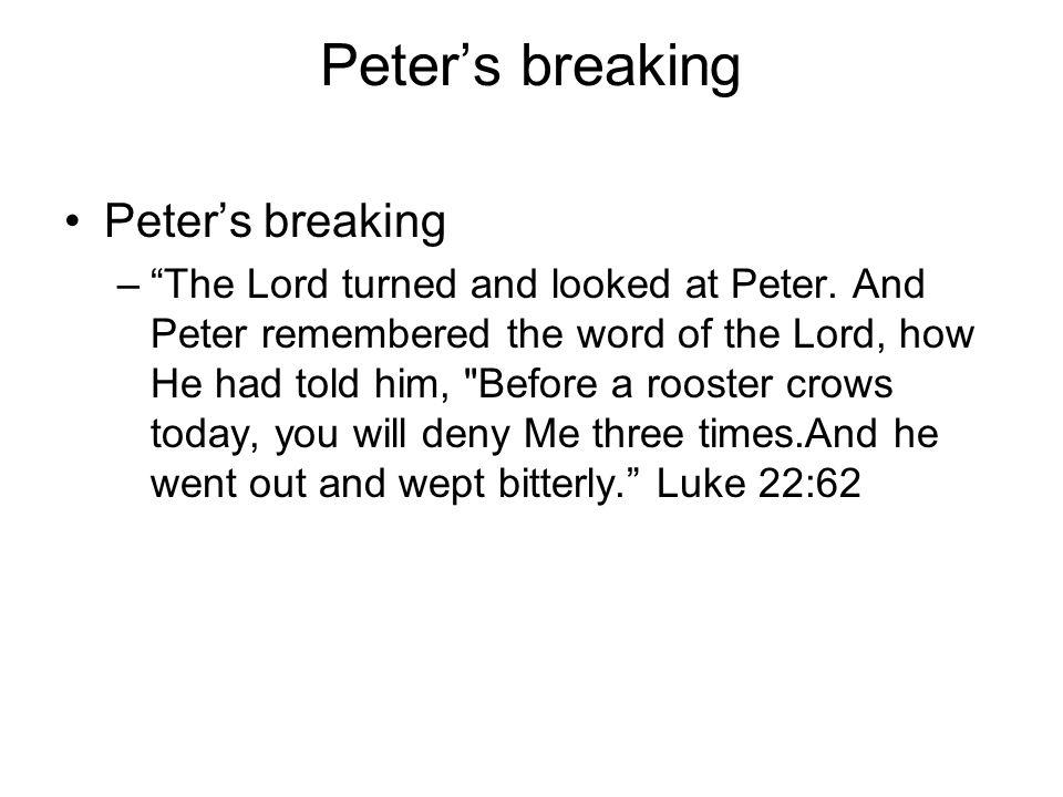 Peter's breaking Peter's breaking