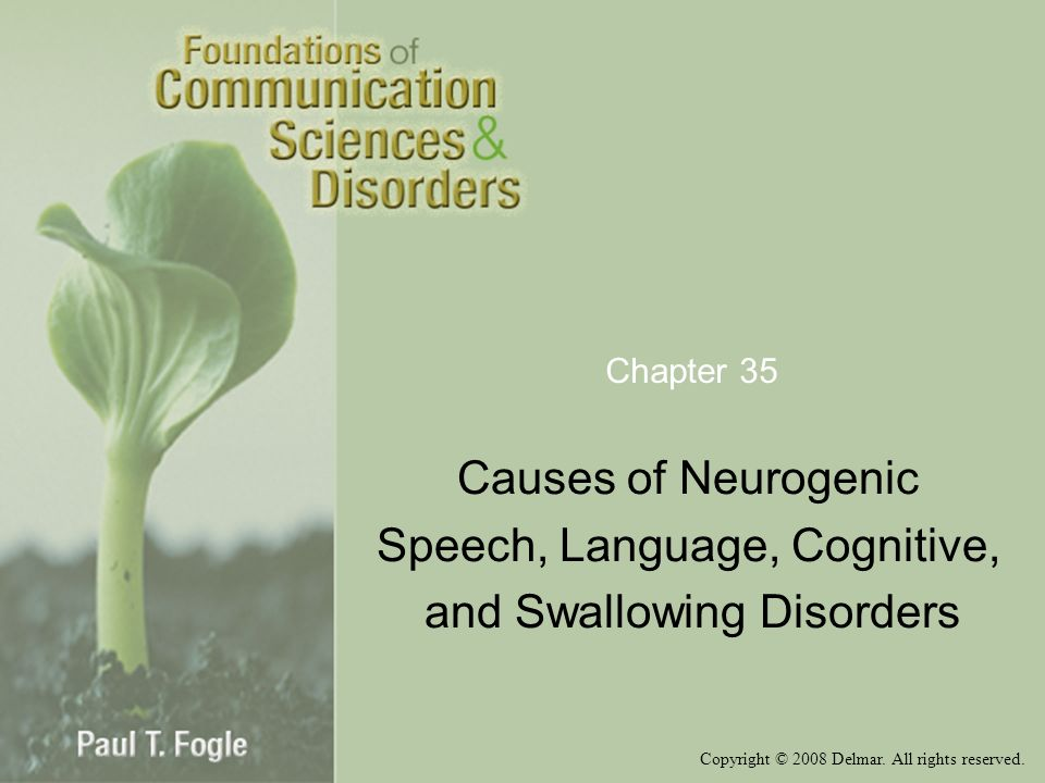 Speech, Language, Cognitive, and Swallowing Disorders