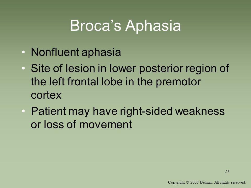 Broca's Aphasia Nonfluent aphasia