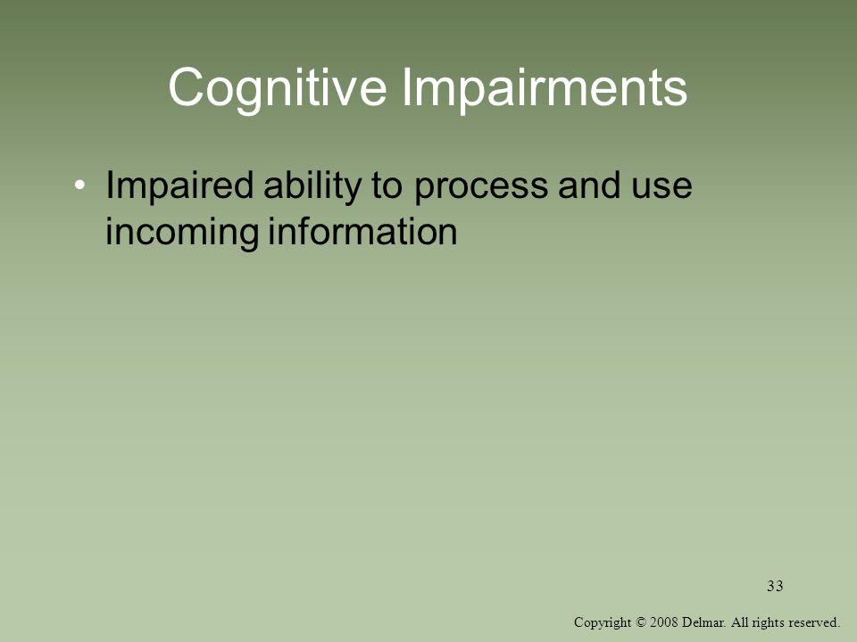 Cognitive Impairments