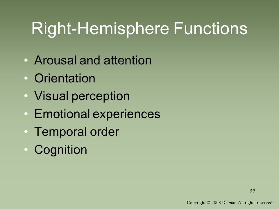 Right-Hemisphere Functions