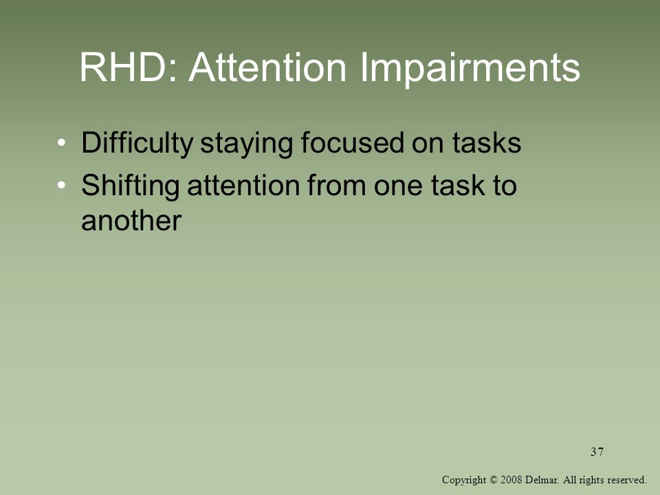 RHD: Attention Impairments