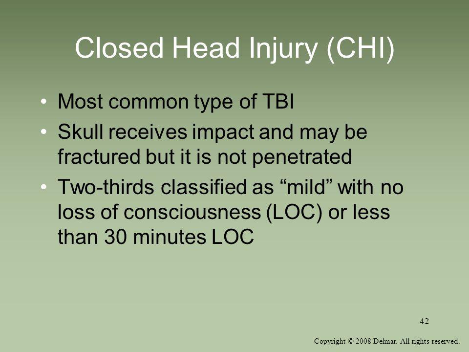 Closed Head Injury (CHI)