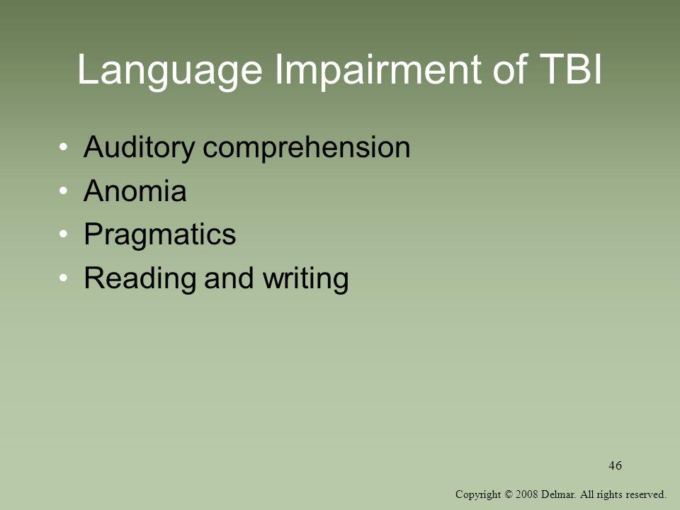 Language Impairment of TBI