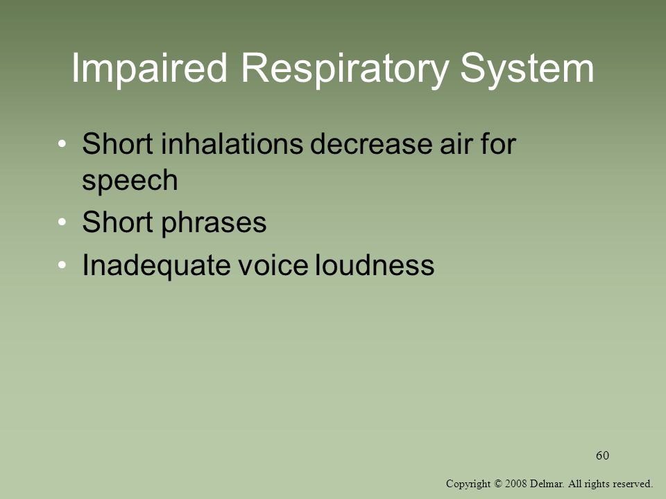Impaired Respiratory System