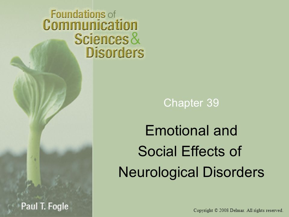 Emotional and Social Effects of Neurological Disorders