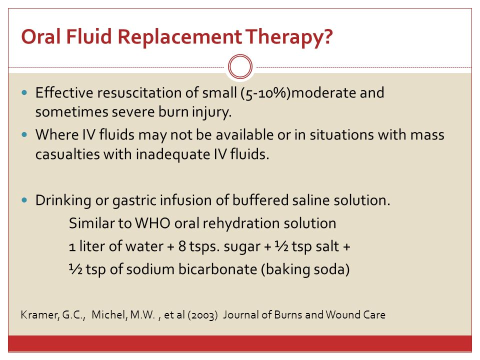 Oral Fluid Replacement Therapy