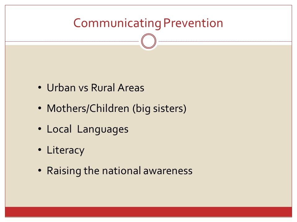 Communicating Prevention